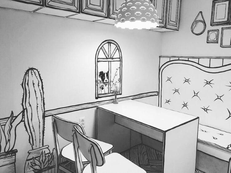 مطعم الرسوم الهزلية