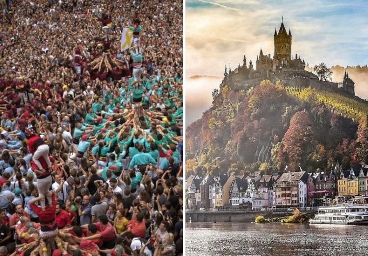 منوعات: أجمل القلاع الألمانية التاريخية + مهرجان الأبراج البشرية في برشلونة، والمزيد..