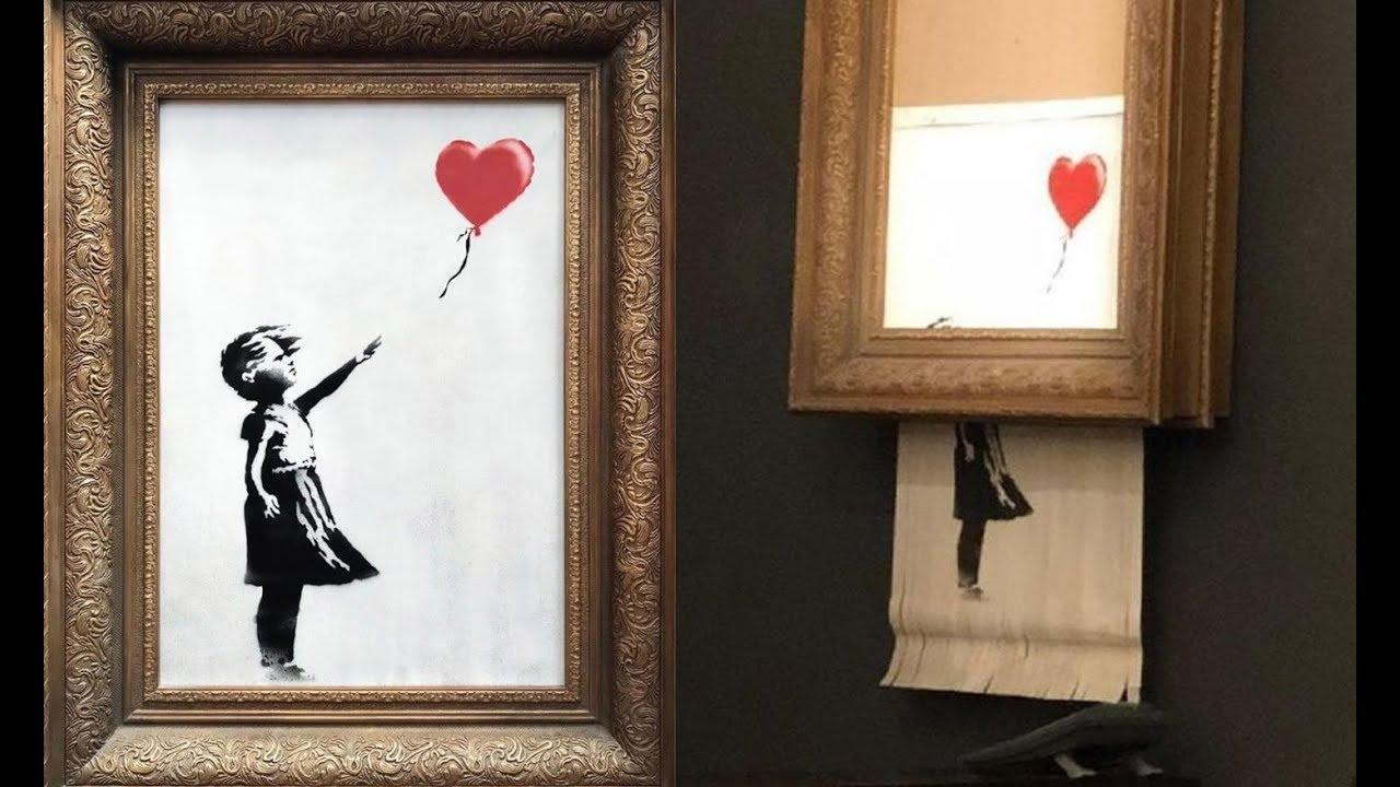 لوحة فنية تدمر نفسها