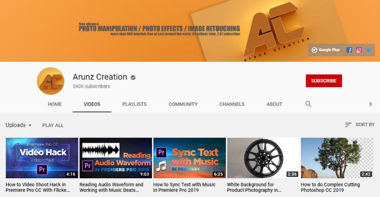 قناة Arunz Creation