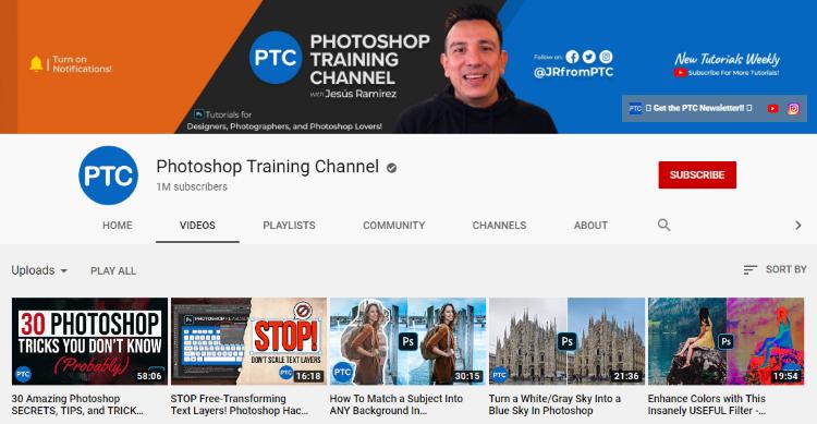 قناة photoshop training