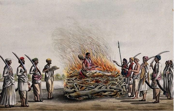 حرق الزوجة