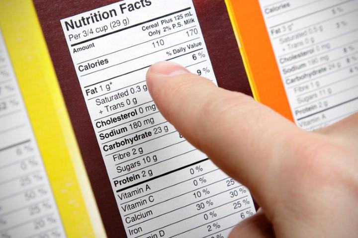 ملصق المكونات الغذائية